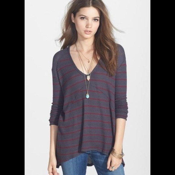 daf1bb6354b Free People Tops | Sunset Park Thermal Striped Tunic Top | Poshmark
